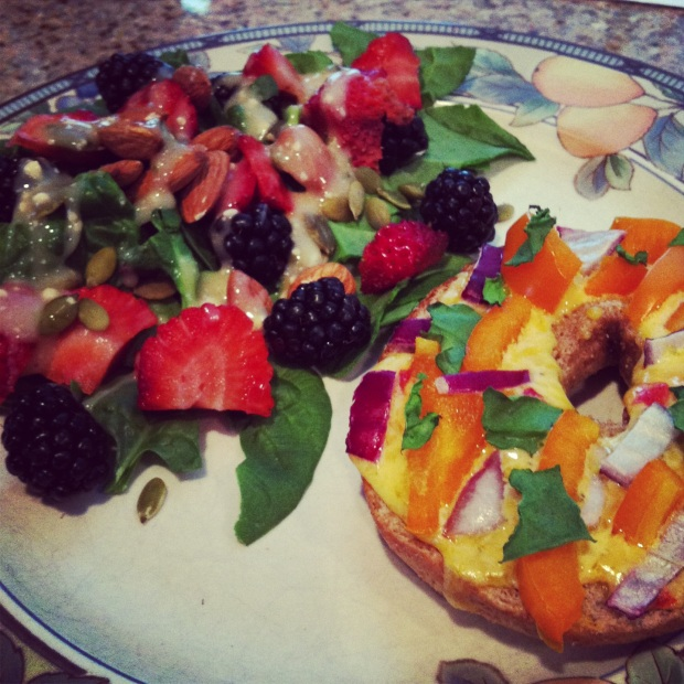 bagel + fruit nut salad