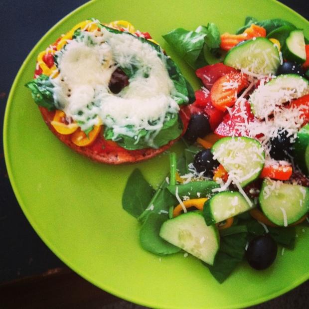 bagel + salad
