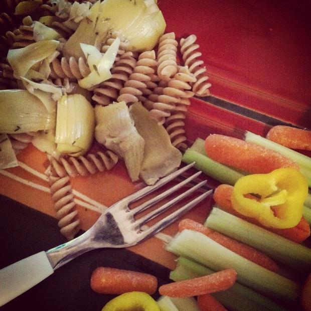 pasta + salad