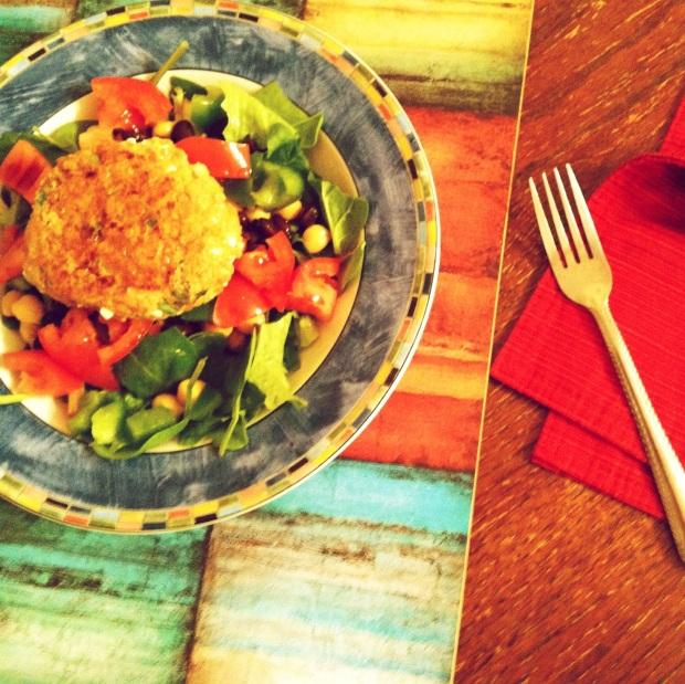 quinoa cake salad