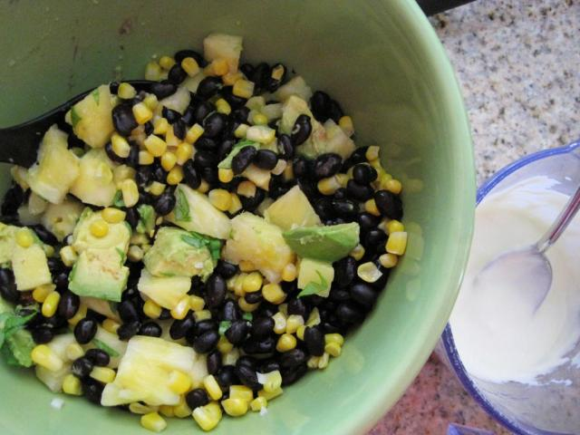 pineapple bean salad 2
