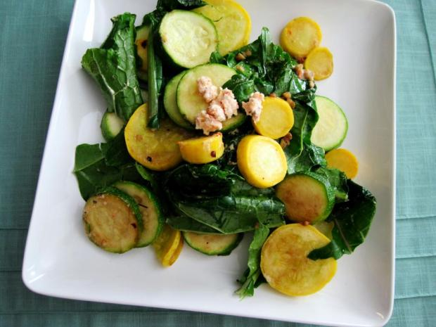 sauteed kale and squash 2