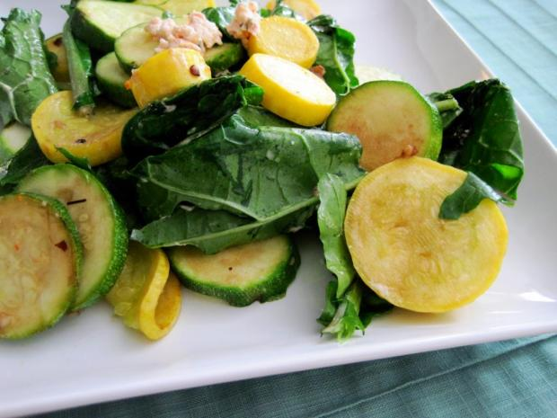 sauteed kale and squash 3
