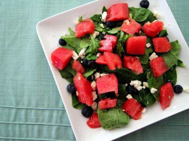 watermelon blueberry feta salad 1