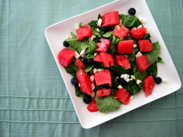 watermelon blueberry feta salad 3