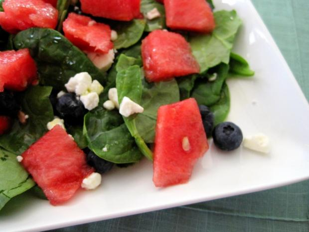 watermelon blueberry feta salad 4