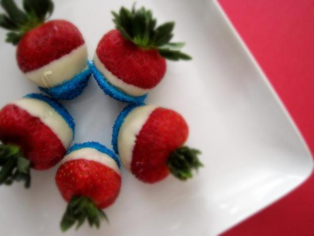 4th of july strawberries 4