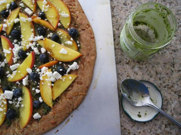 blueberry peach pizza 2