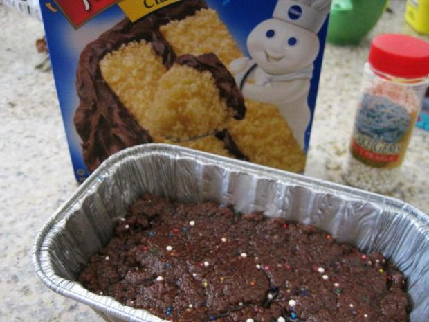 chocolate cake batter fudge 2