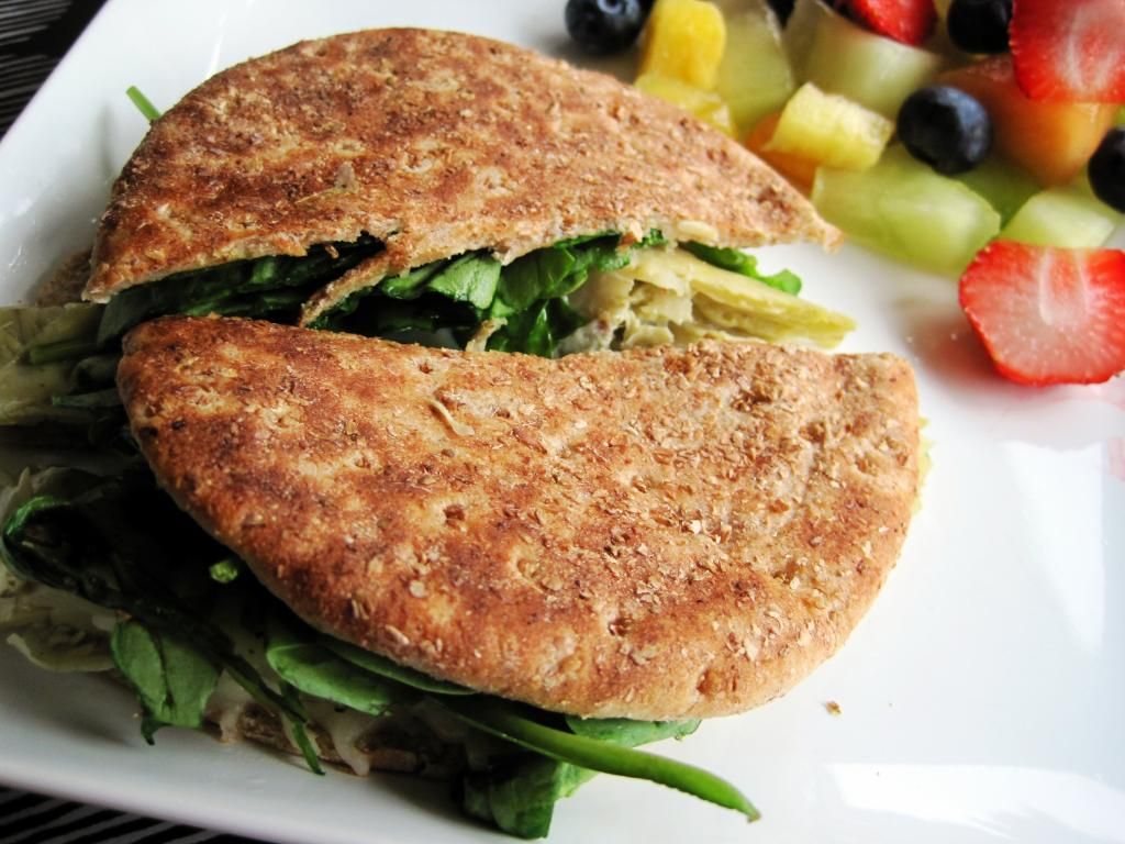 Spinach and Artichoke Grilled Cheese   Skinny Muffin