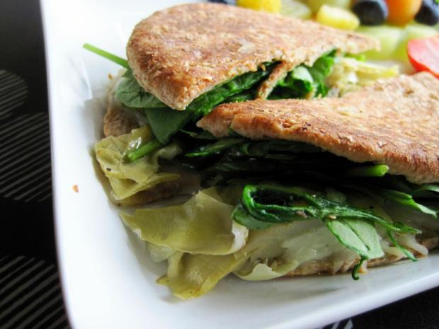 spinach and artichoke grilled cheese 3