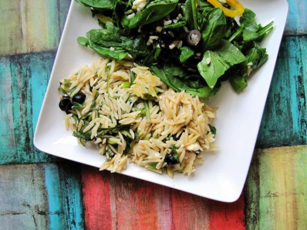 spinach orzo bake 1