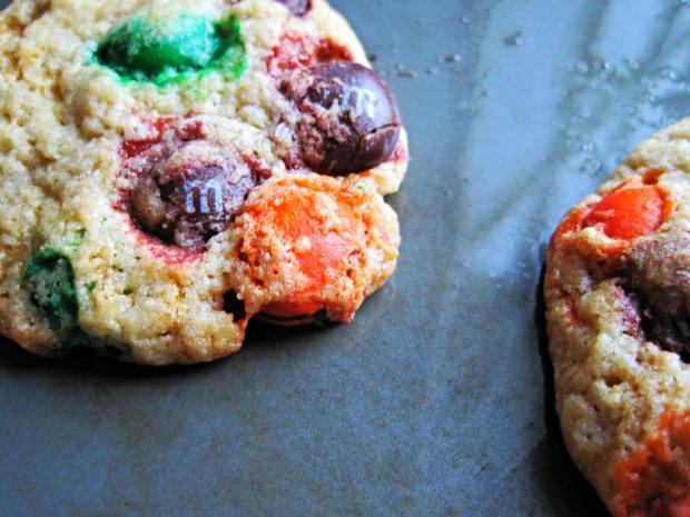 pumpkin m&m cookies 1