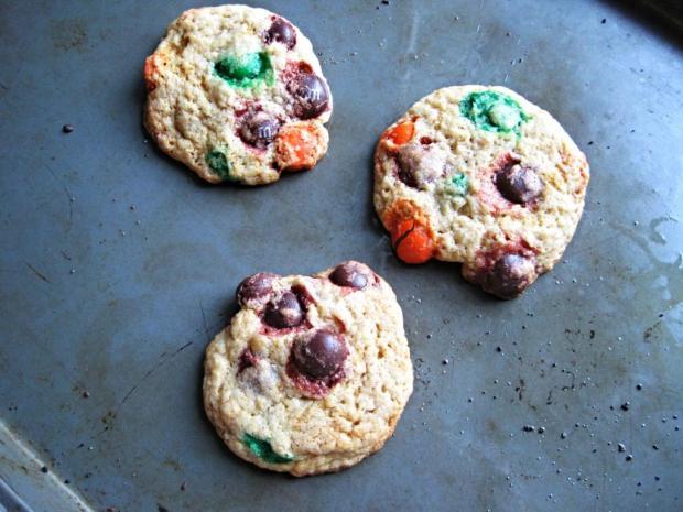 pumpkin m&m cookies 4