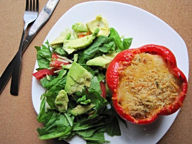 quinoa pumpkin stuffed pepper 3