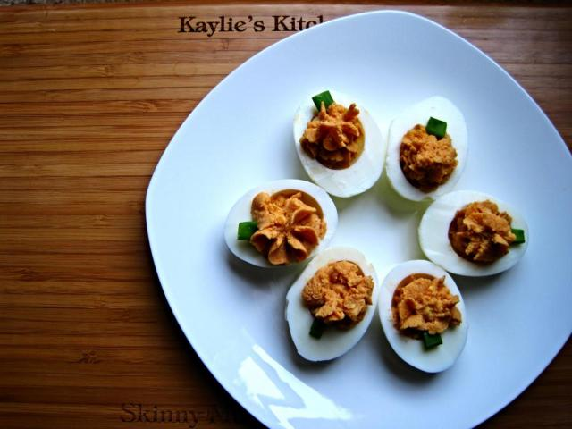 pumpkin deviled eggs 1