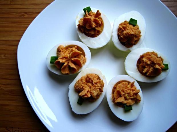 pumpkin deviled eggs 2