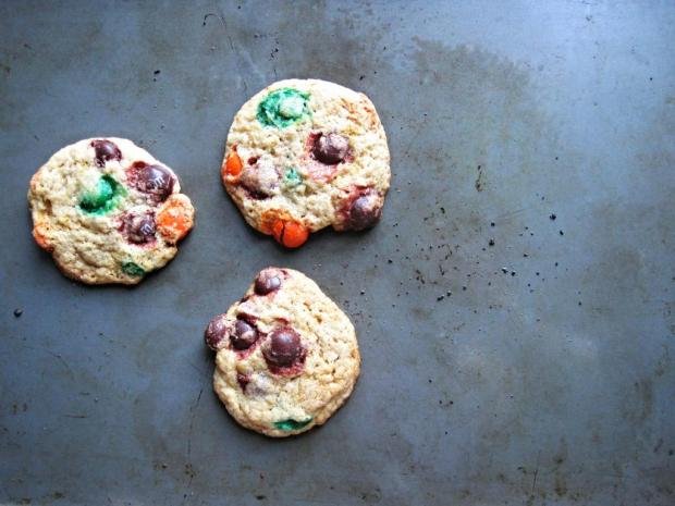 pumpkin m&m cookies 2