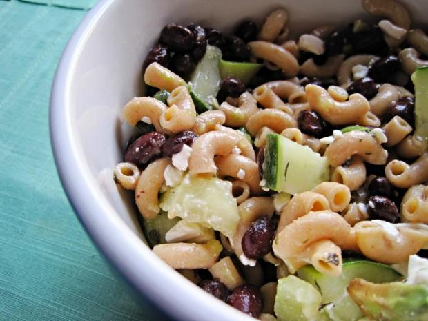 cucumber bean pasta salad 1