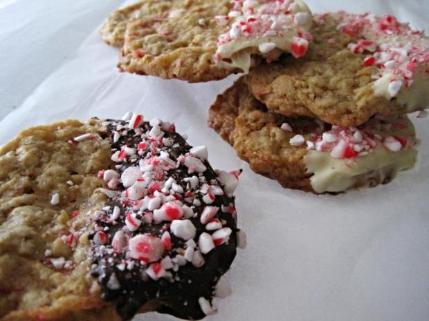 peppermint oatmeal cookies 3