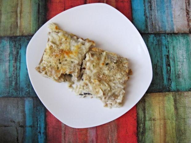 portobello alfredo lasagna 1
