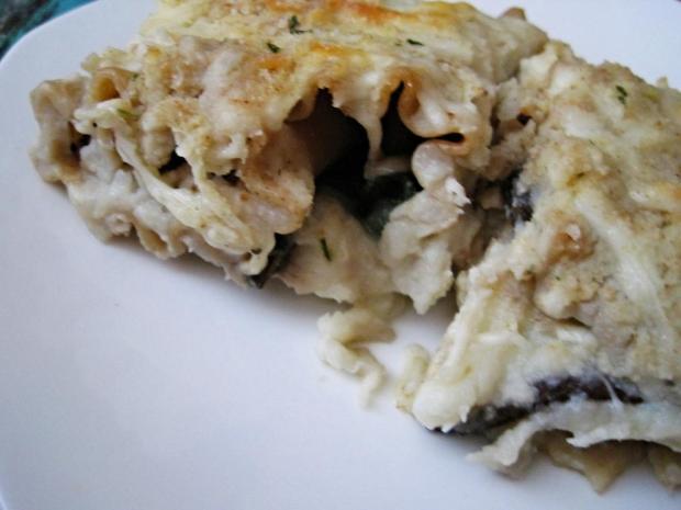 portobello alfredo lasagna 2