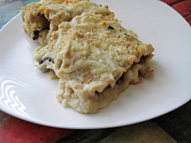 portobello alfredo lasagna 3