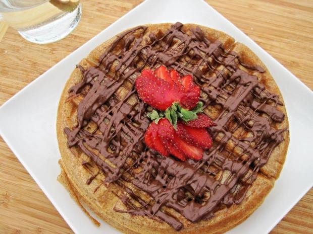 strawberry waffles 3