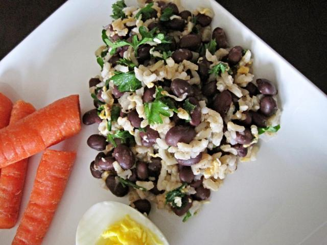 cheesy black bean rice 4