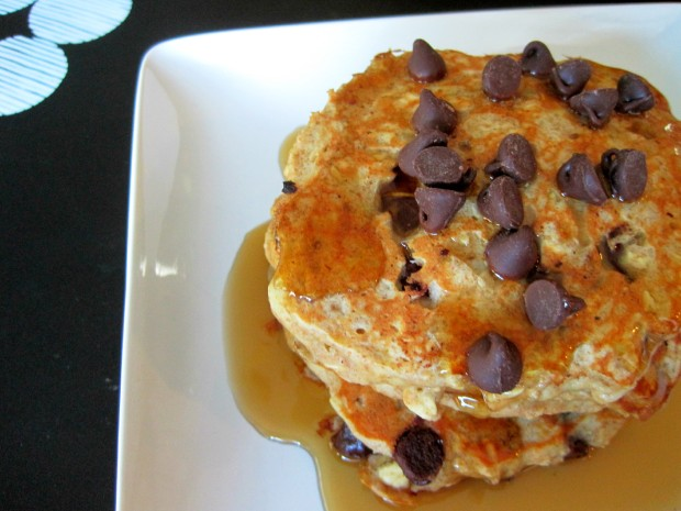 choc chip oatmeal pancakes 3
