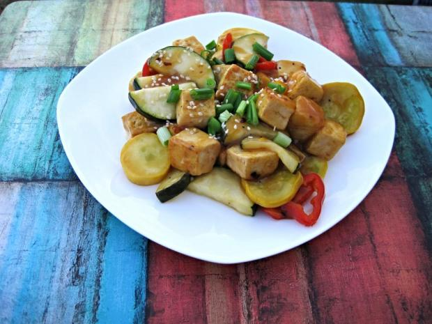 spicy orange tofu stir fry 1