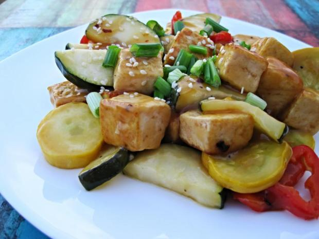 spicy orange tofu stir fry 3