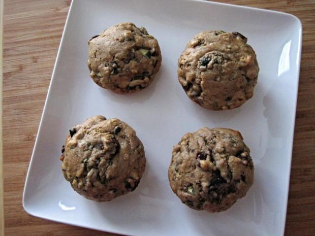 zucchini choc muffins 1