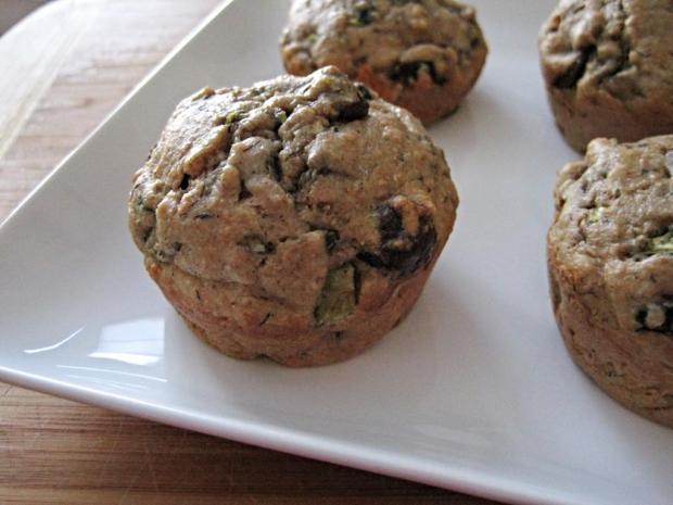 zucchini chocolate muffins 2