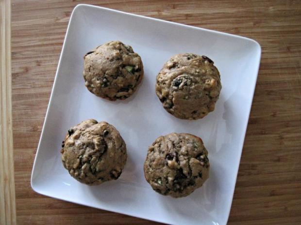 zucchini chocolate muffins 3