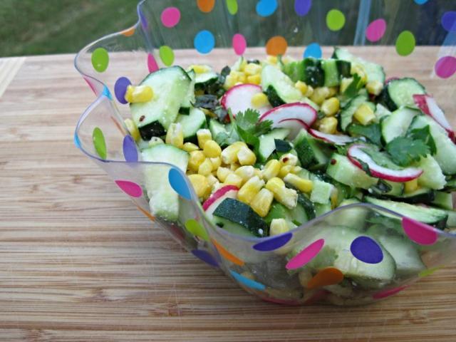 cucumber corn radish salad 2