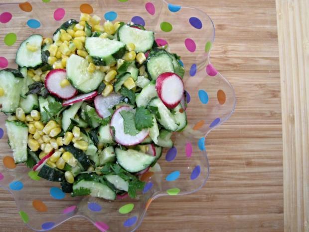 cucumber corn radish salad 3