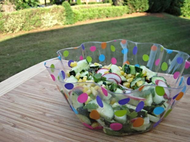 cucumber corn radish salad 4